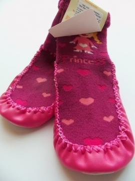 """Kojinės-šlepetės su natūralios odos paduku """"Nur Die - Hausschuh Socke"""""""