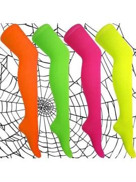 Neoninių spalvų kojinės