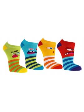 Linksmos neslystančios kojinės, 3 poros.