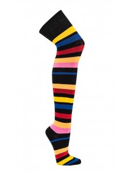 Dryžuotos kojinės virš kelių